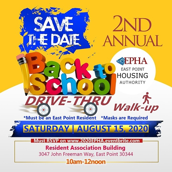 Vice Chair Arrington Back to school drive