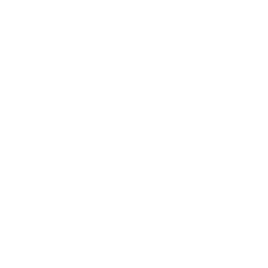 white icon representing volunteering at the library