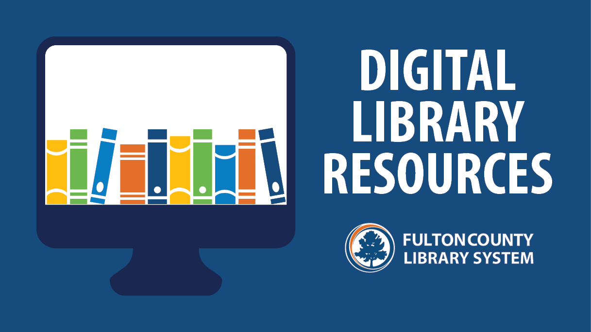 Digital library resources - computer graphic with books