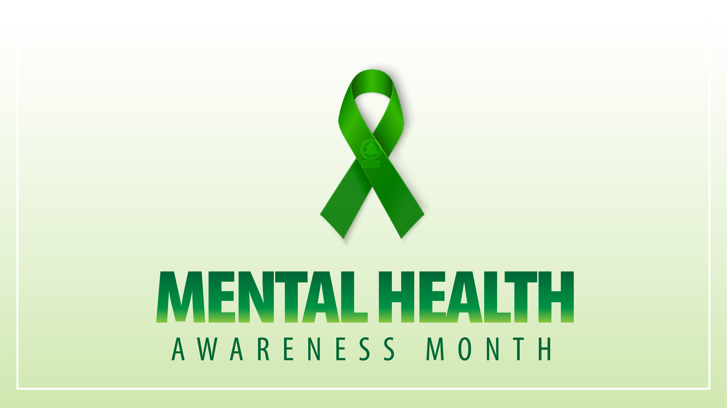 mental health awareness month with green ribbon