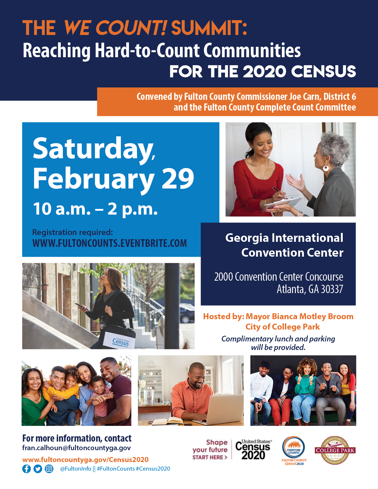 We Count Summit February 29 at 10am-2pm